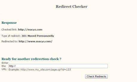 Redirect Checker Screenshot