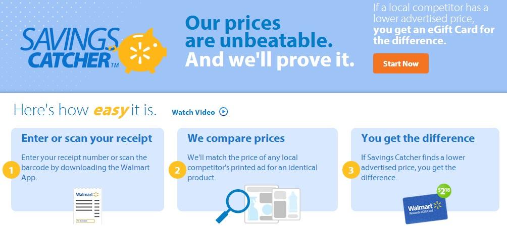Wal-Mart's Savings Catcher App