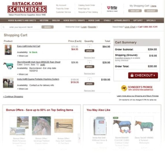 using checkout boxes in cart