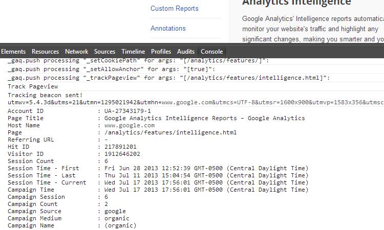 Google Analytics Debugger Extension for Chrome
