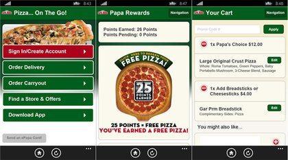 Papa John's Mobile App
