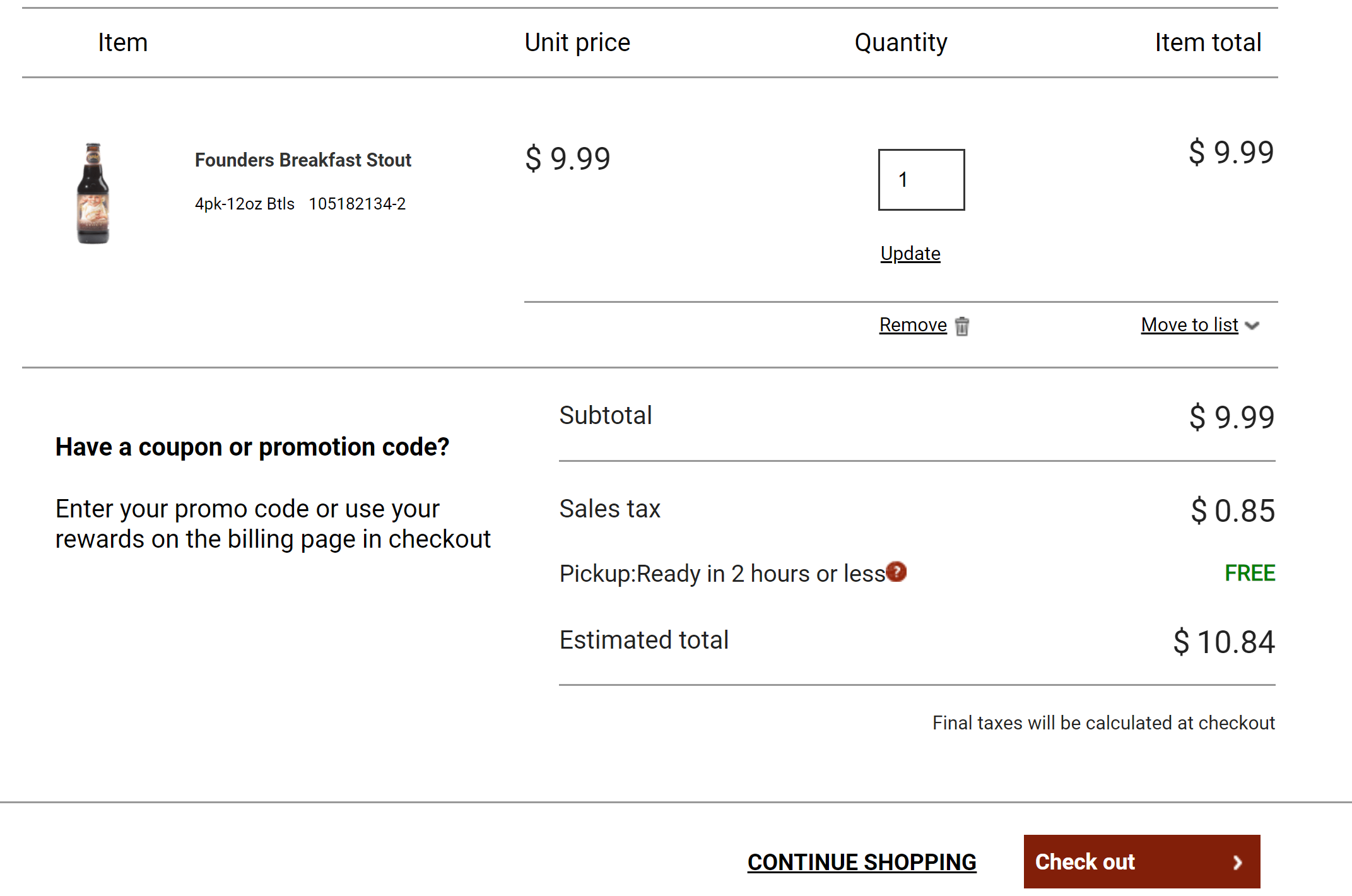 totalwine ecommerce checkout