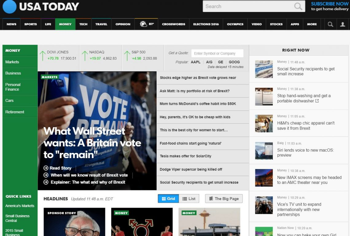 usatoday without ads